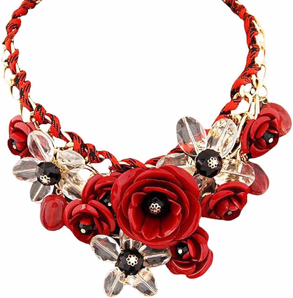 Collar Colorido del cordón de la decoración de la Camisa de Las Joyas de la Flor de la Moda Colorida