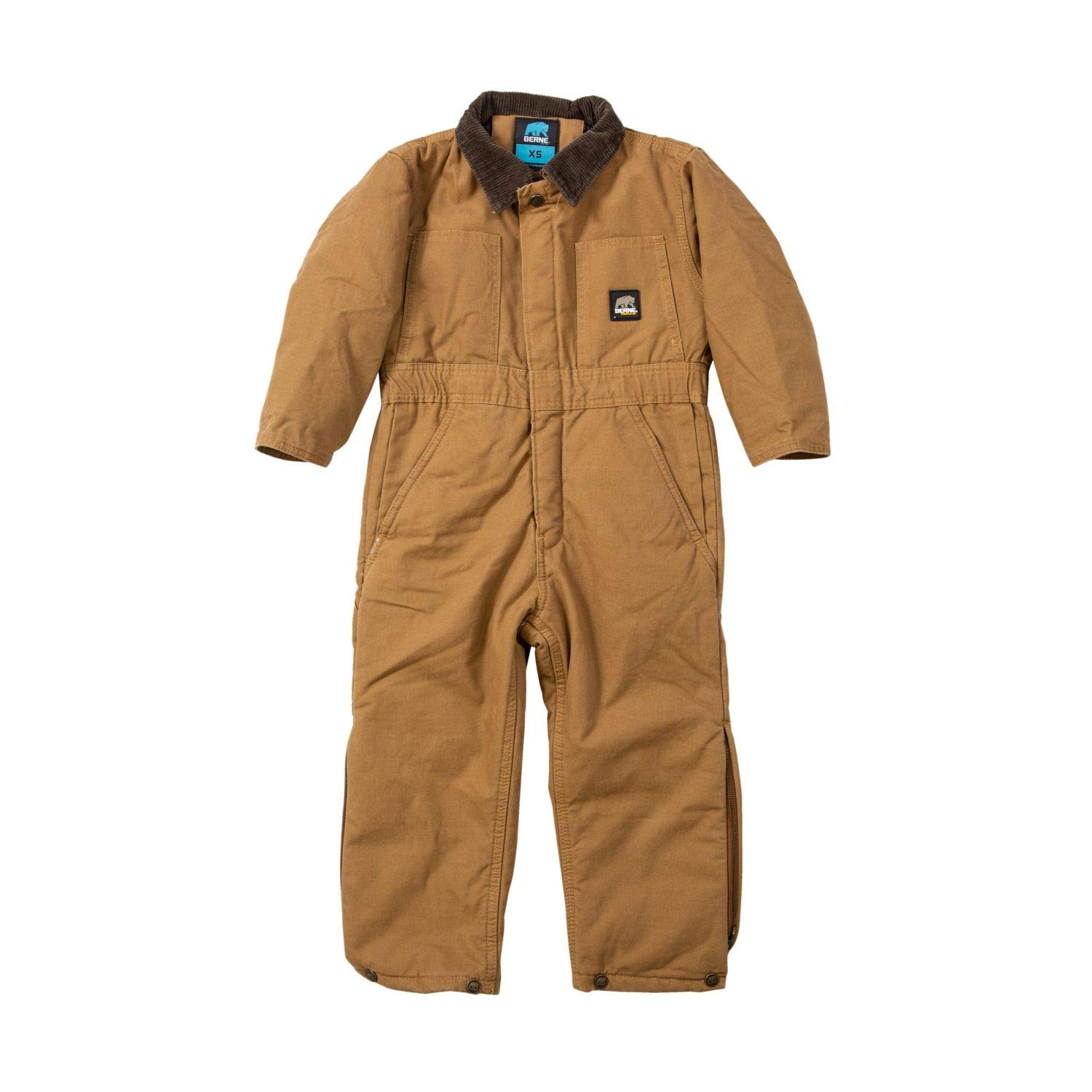Berne BI38 Boys' Washed Insulated Coverall, Brown Duck - X-Small/Regular