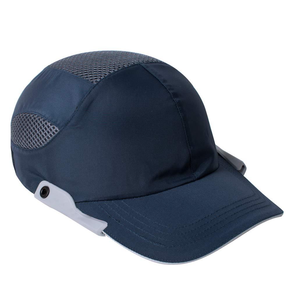Zinnor Lightweight Safety Bump Cap- Baseball Bump Cap Head Protection Cap with Reflective Strip (Navy Blue)