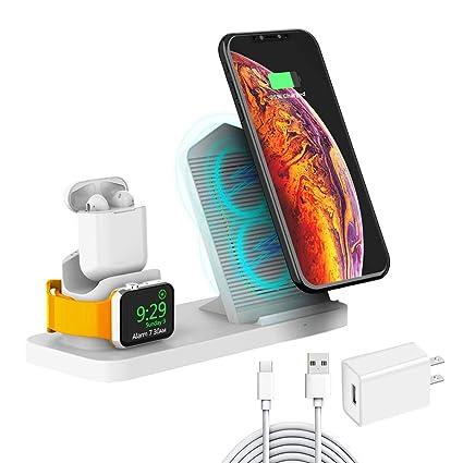 Amazon.com: BoxThink 10 W cargador inalámbrico rápido, 3 en ...