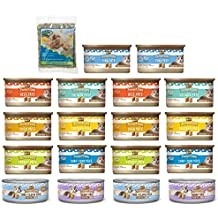 Merrick Purrfect Bistro Pate Canned Wet Cat Food Variety Pack and Catnip (3 Oz. Each) - 9 Flavors - Chicken, Duck, Tuna, Salmon, Rabbit, Beef, Turkey, Tuna & Tilapia, and Surf & Turf (18 Cans Total)