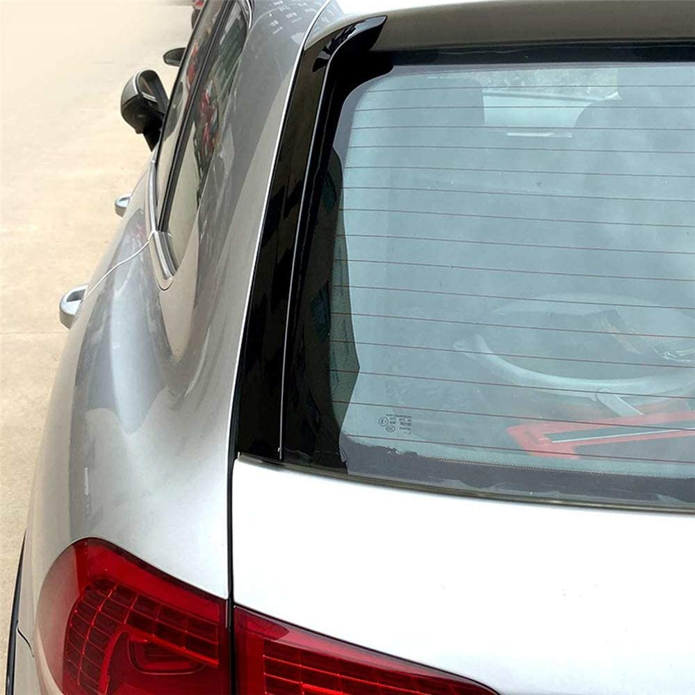 Gl/änzend schwarz Heckscheibenseite Spoiler Wing Canard f/ür VW f/ür Touareg 2011 2012 2013 2014 2015-2017 Auto-Styling Auto Zubeh/ör