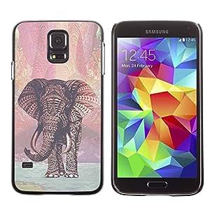 TopCaseStore / la caja del caucho duro de la cubierta de protección de la piel - Pattern Christmas Xmas - Samsung Galaxy S5 SM-G900