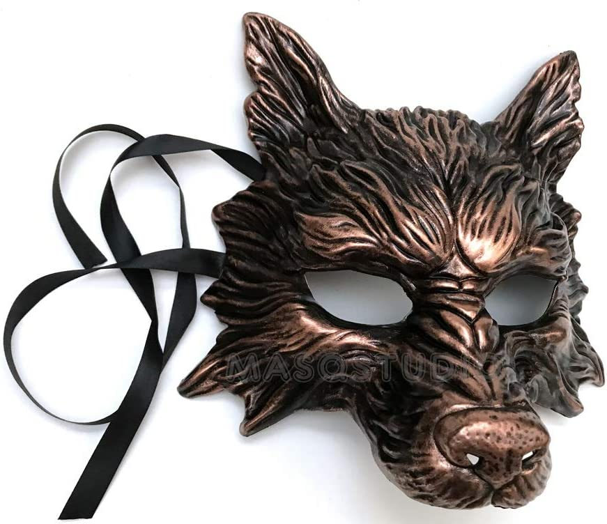 Animal Masquerade Wolf mask Halloween costume Birthday Party Art Wall Deco Mask