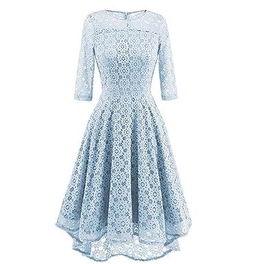 Lilicat Elegant Kleid Damen 50s Retro Vintage Kleider Spitzenkleid