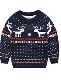 Children's Fireplace Lovely Sweater For Christmas Best Gift