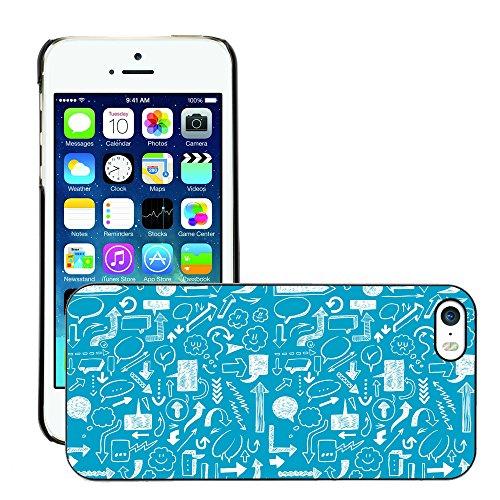 Premio Sottile Slim Cassa Custodia Case Cover Shell // V00002517 flèches Seamless // Apple iPhone 5 5S 5G