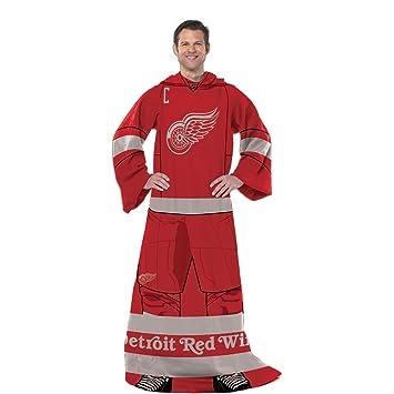 Detroit Red Wings NHL Adult Uniform Comfy Throw Blanket W Sleeves Extraordinary Red Wings Throw Blanket