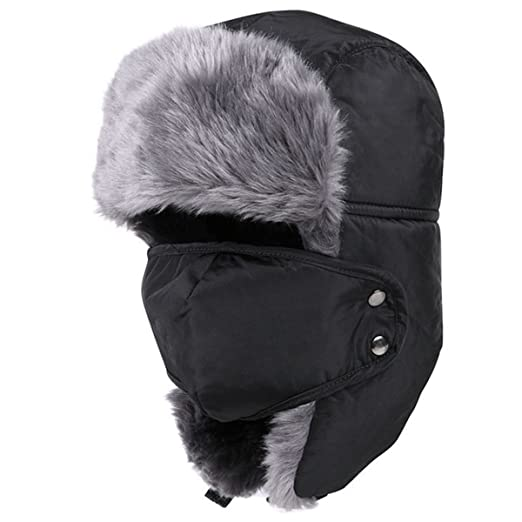 Amazon.com  LoveUlife Winter Trooper Trapper Hat Ear Flap Hat Warm Hunting  Hat Adjustable Waterproof Windproof Skiing Cap  Clothing 6efd8d3ef1b