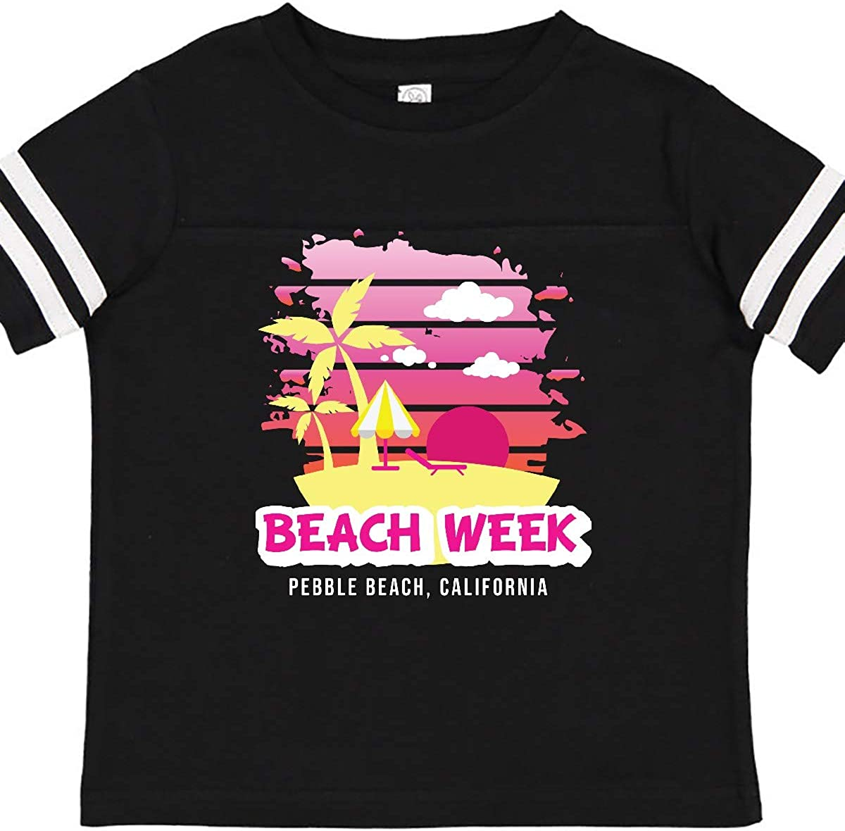 inktastic Beach Week Pebble Beach California with Palm Trees Toddler T-Shirt