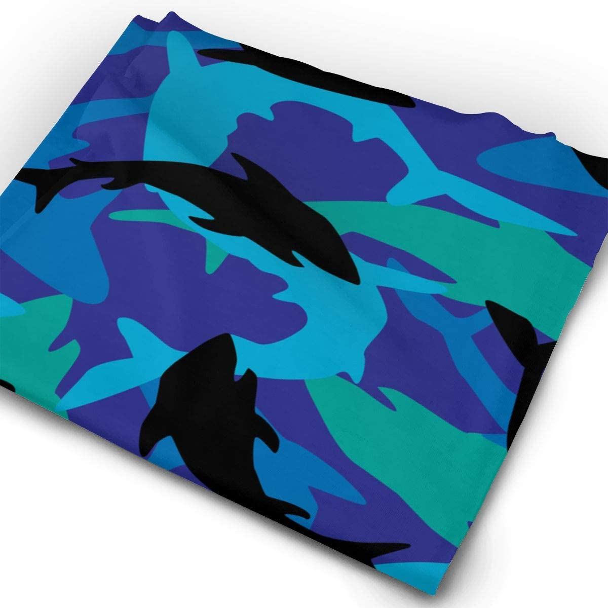 Overlapping Shark Camo Pattern Unisex Fashion Quick-Drying Microfiber Headdress Outdoor Magic Scarf Neck Neck Scarf Hooded Scarf Super Soft Handle