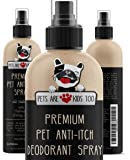 Premium Pet Anti Itch Spray & Scent Freshener! Natural ingredients & Hypoallergenic! Soothes Dogs & Cats Hot Spots…