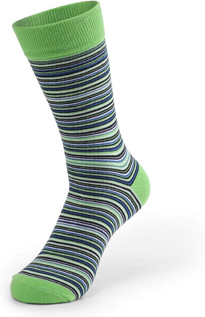 JAZ6 Calcetines largos de 5 pares para hombre Calcetines largos de ...