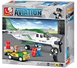 Sluban Transport Airplane - 251 Pieces (Brand New in Original English Box) 100% LEGO Compatible - Educational Toy - Building Bricks (green and white medium size) Aviation Series M38-B0362