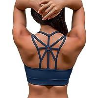 YIANNA Sujetador Deportivo Mujer con Relleno Extraíble Top