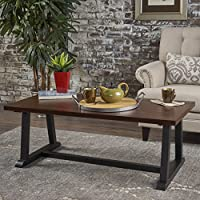 Perlestl Coffee Table | Industrial, Modern, Wood | Engineered Wood Overlaid with Chinaberry Veneer