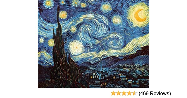 picture relating to Starry Night Printable named Starry Evening as a result of Vincent Van Gogh Poster Print
