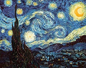 Amazon.com: Starry Night by Vincent Van Gogh Poster Print