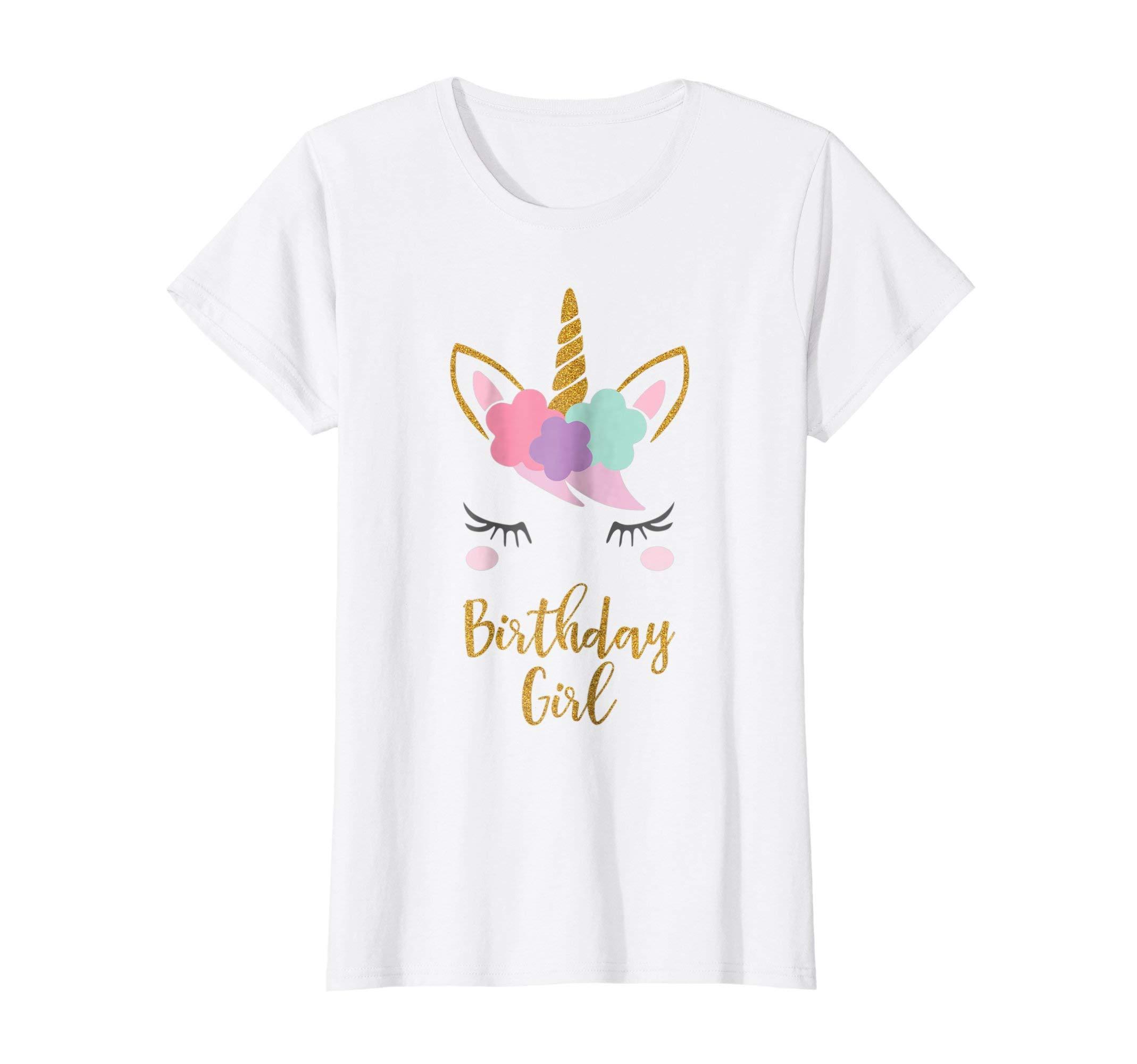 73b970dbcec89 Galleon - Womens Unicorn Birthday T-Shirt, Unicorn Gift, Birthday Outfit XL  White