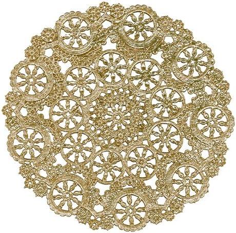 Royal Lace Round Foil Doilies, Gold, 12-Inch, 6 Foils per pack (B26512)