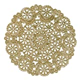 Royal Lace Round Foil Doilies, Gold, 10-Inch, Pack of 8 (B26511)