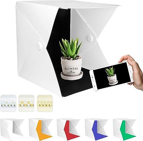 Yorbay Caja de Luz 40x40x40cm Fotografía Portátil para Estudio ...