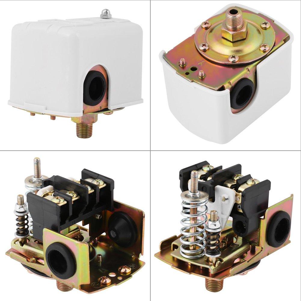 remplacement du pressostat deau 0.14-0.28Mpa automatique pompe /à eau de puits pi/èces bipolaire r/églable interrupteur de commande de pression 220V AC Pressostat