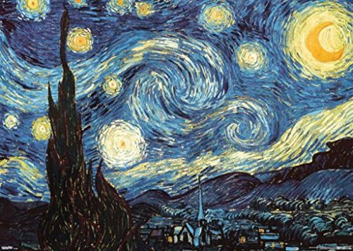 Print Poster Night Starry (Vincent Van Gogh The Starry Night Post Impressionist Dutch Painter Painting Giant Poster 55x39 inch)