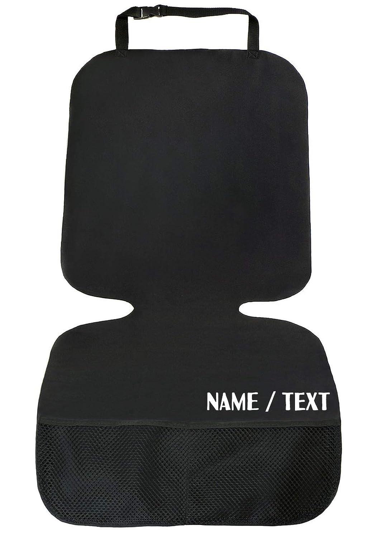 Premium Personalisierte Autositzauflage Kindersitzunterlage Auto Kindersitzunterlage Wasserabweisend Isofix Geeignet Schwarz Name Text 085 Baby
