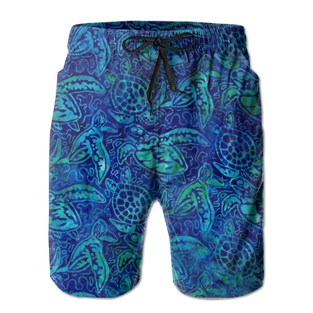 Animals Sea Turtle Mens Dry Fit Performance Short with Pockets