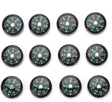 Regun Al Aire Libre de 20 mm Brújula- Mini Bolsillo Lleno de Aceite compás for Que va de excursión al Aire Libre Actividades de Accesorios (12pcs / Pack): Amazon.es: Deportes y aire