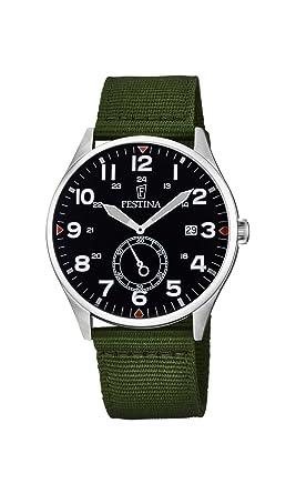 Festina Reloj Análogo clásico para Hombre de Cuarzo con Correa en Nailon F6859/1: Amazon.es: Relojes
