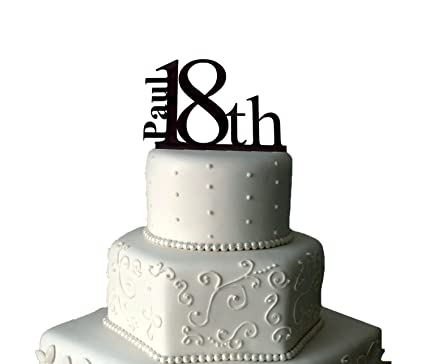 18th Birthday Cake Topper Personalised 18th Cake Topper