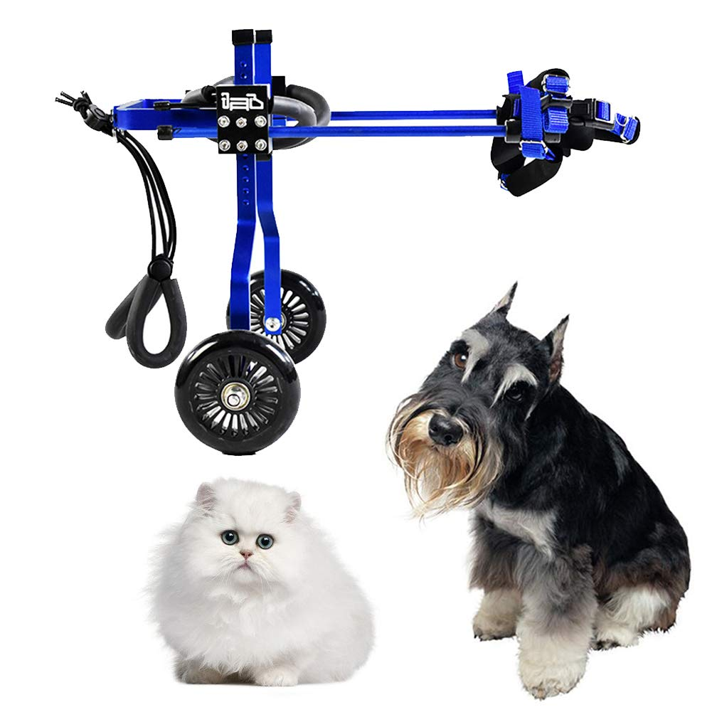 CoraStudio Dog Support Wheelchair for Canine Aid, Adjustable Cat Wheelchair, Hind Leg Rehabilitation for Handicapped Rehabilitation for Rabbit/Doggie/Puppy, 2 Wheels, XXXS~XXL,XS-01 by CoraStudio