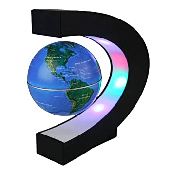 Globus Weltkugel Karte.Lilyeyes C Förmigem Magnetisch Schwebender Globus Weltkugel Drehbar