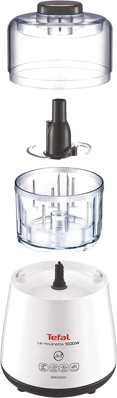 Tefal Moulinette Robot de cocina, 1000 Vatios, color blanco: Tefal ...