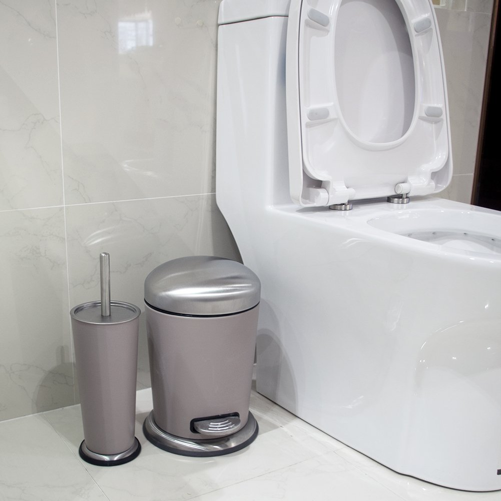 6-Piece Bathroom Accessory Set, Stainless Steel Bath Ensemble Bath ...