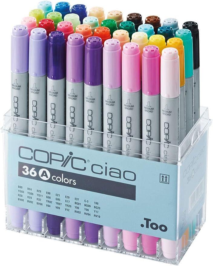 Copic Ciao – Juego de rotuladores, 36 unidades de dibujo surtido A: Amazon.es: Juguetes y juegos