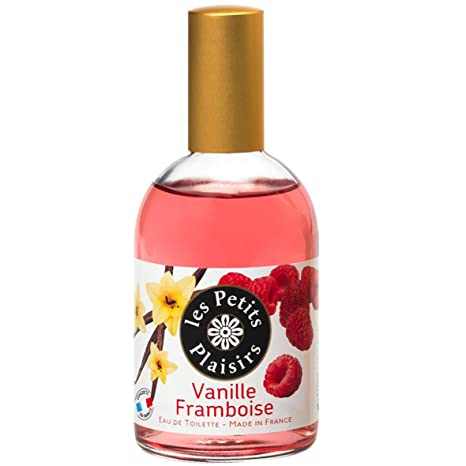 Les Petits Plaisirs - Colonia con vaporizador, aroma de vainilla y frambuesa, 110 ml