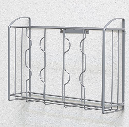 Large Product Image of SimpleHouseware Over the Cabinet Door Organizer Holder, Silver
