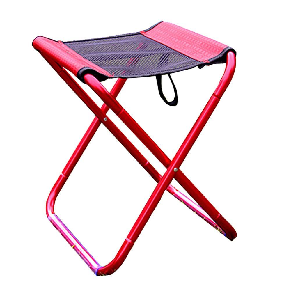 LIPAI Klappstuhl Im Freien Klappstuhl Multifunktions-Outdoor-Stuhl Freizeit Klappstuhl Im Freien Rot 30  26  30cm