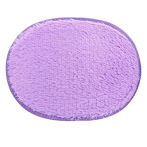 - Quaanti 2018 Non-Slip 30x40cm Anti-Skid Fluffy Shaggy Area Rug Home Bedroom Bathroom Floor Door Mat Non-Toxic Resistant Seat Pad (Purple)
