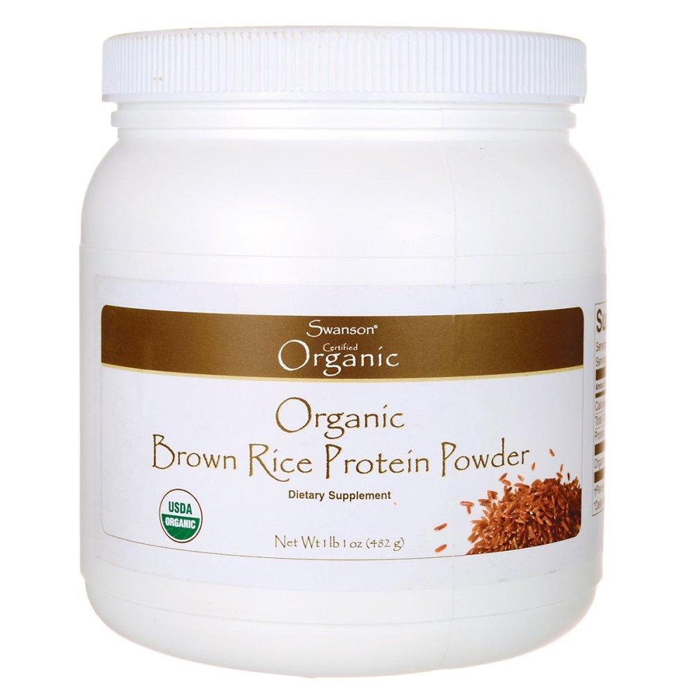 Swanson Organic Brown Rice Protein 1 lb 1 oz Pwdr