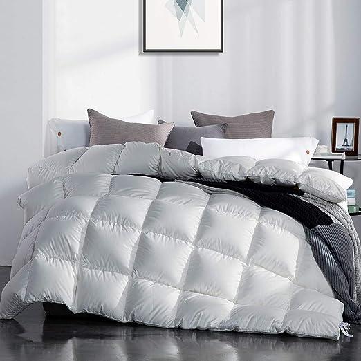 Amazon.com: SNOWMAN White Goose Down Comforter CAL King Size 100
