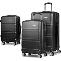 Luggage Set | Wanderlite 3 Pieces Hardshell Spinner Suitcase TSA Lock Trolley Lightweight Suitcase Organizer Sets with…