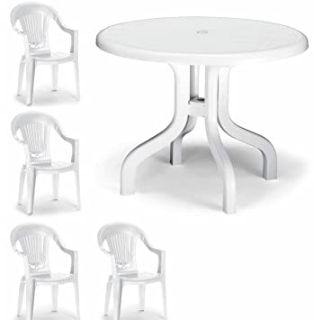 *SALE* SUPERIOR PLASTIC 5 PIECE GARDEN DINING SET   4 CHAIRS 1 TABLE!