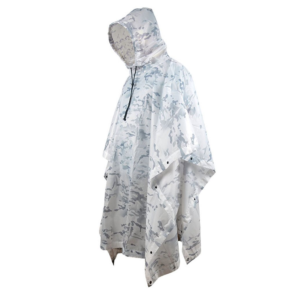 Portable Raincoat Suit Outdoor Camouflage Raincoat Jungle Maple Leaf Concealed Multi-Purpose Poncho Mat Multi-Purpose Environmental Poncho for Outdoor Walking Cycling (Color : G) by LYP-Rainwear