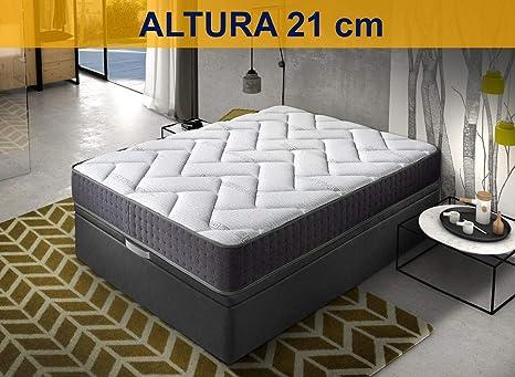 Relaxing-Confort, Colchon de 150 x 200 Viscoelastico-Grafeno, Espuma