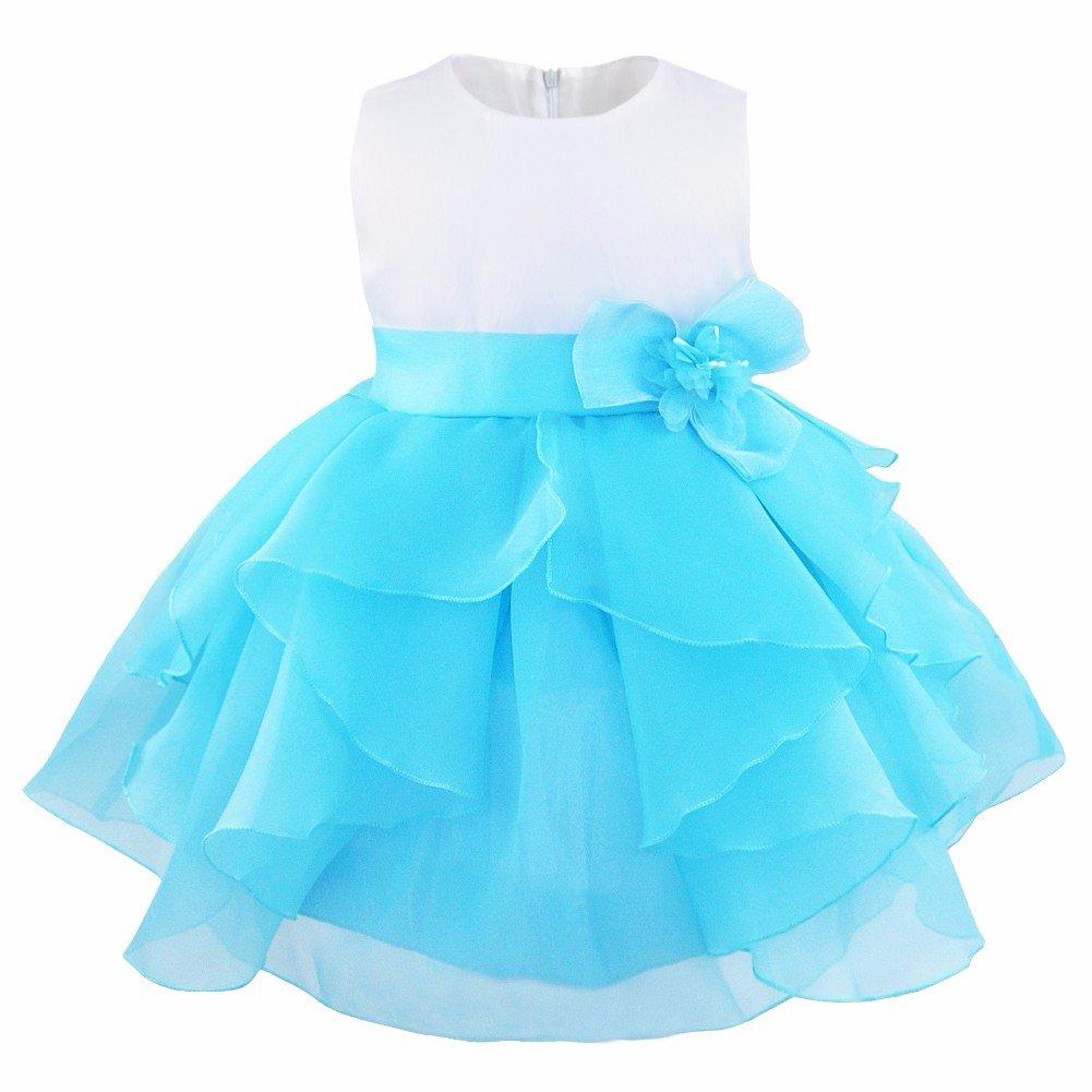 iEFiEL Vestido de Bautizo Princesa para Bebé Niña Recién Nacido (3-24 Meses)
