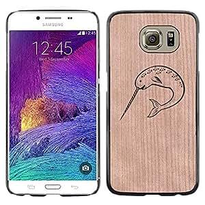 - / Shark Laser Funny Comics - - Funda Delgada Cubierta Case Cover de Madera / FOR Samsung Galaxy S6 G9200 / Jordan Colourful Shop/